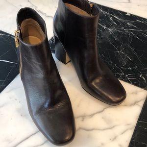 Michael Kota brown leather bootie